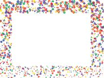 Okrąża confetti tło ilustracji