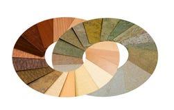 okrąża kolorowe uwarstwiać próbki Obraz Stock