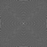 okrąża koncentrycznego Abstrakcjonistyczne Czarny I Biały grafika ilustracja wektor