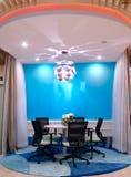 Okrągłego stołu pokój konferencyjny Obrazy Stock