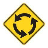 okrągły to znak drogowy ostrzeżenie ilustracja wektor