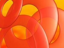 okrąg abstrakcjonistyczna pomarańcze Obraz Royalty Free