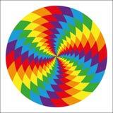 Okrąg abstrakcjonistyczna psychodeliczna tęcza Fotografia Royalty Free