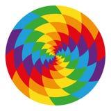 Okrąg abstrakcjonistyczna psychodeliczna tęcza Obraz Stock