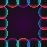 Okrąg abstrakcjonistyczna wibrująca granica Zdjęcia Royalty Free