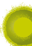 okrąg abstrakcjonistyczna zieleń Obrazy Royalty Free