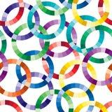 okrąg cuted deseniowy bezszwowy Fotografia Royalty Free