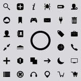 okrąg ikona Szczegółowy set minimalistic ikony Premia graficzny projekt Jeden inkasowe ikony dla stron internetowych, sieć projek royalty ilustracja