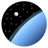 Okrąg ikona ziemia i księżyc Zdjęcia Stock