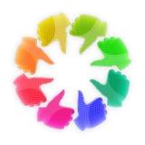 Okrąg kolorowe ręki - aprobaty Fotografia Royalty Free
