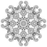 Okrąg koronki ornament, round ornamentacyjny geometryczny Obrazy Royalty Free