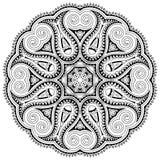 Okrąg koronki ornament, round ornamentacyjny geometryczny Obrazy Stock