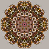 Okrąg koronki ornament, round ornamentacyjny geometryczny Zdjęcia Royalty Free