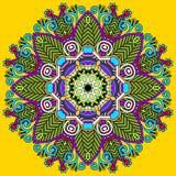 Okrąg koronki ornament, round ornamentacyjny geometryczny Zdjęcia Stock