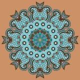 Okrąg koronki ornament, round ornamentacyjny geometryczny Zdjęcie Stock