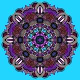 Okrąg koronki ornament, round ornamentacyjny geometryczny Fotografia Royalty Free