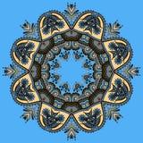 Okrąg koronki ornament, round ornamentacyjny geometryczny Zdjęcie Royalty Free
