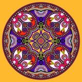 Okrąg koronki ornament, round ornamentacyjny geometryczny Obraz Stock