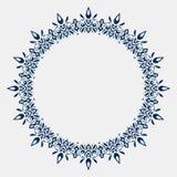 Okrąg koronki ornament, round ornamentacyjny geometryczny doily wzór w ilustracja wektor