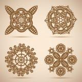 Okrąg koronki ornament, round ornamentacyjny wzór ilustracja wektor
