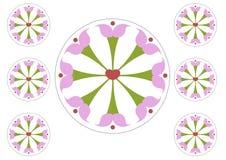 Okrąg kwitnie cilpart pastę i cięcie ilustracji