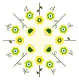 okrąg kwitnie retro wiosna royalty ilustracja