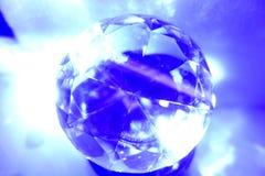 Okrąg lub kula ziemska w błękicie Zdjęcie Royalty Free