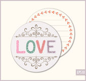 Okrąg miłości karta Zdjęcie Royalty Free