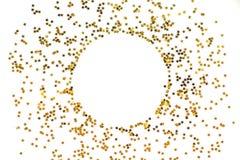 Okrąg od złoto gwiazd na białym tle obraz royalty free