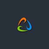 Okrąg pętli technologii logo Obrazy Royalty Free