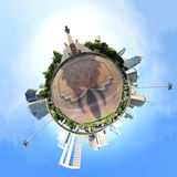 Okrąg panorama w mieście Fotografia Royalty Free