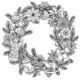 Okrąg piłek Bożenarodzeniowy ornament Zdjęcia Stock
