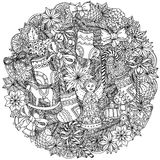 Okrąg piłek Bożenarodzeniowy ornament Zdjęcie Stock