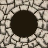 Okrąg rama z kamiennym bezszwowym wzorem Zdjęcia Stock