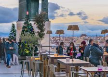 Okrąg sztuka piękna bar, Madryt, Hiszpania obraz royalty free