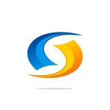 Okrąg technologii pętli abstrakta logo Fotografia Stock