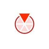 Okrąg trójboki, jeden z czego jest więcej niż jakaś inny Obrazy Royalty Free