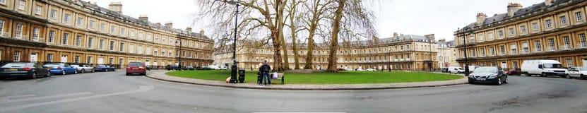 Okrąg w skąpaniu, UK - panorama obraz royalty free