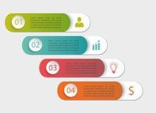 Okrąg wykłada infographic Obraz Stock