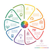 Okrąg Wykłada Infographic Dziesięć pozycj ilustracji