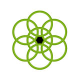 okrąg zieleń Obrazy Royalty Free