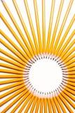 okrąg zrobił ołówkom Zdjęcia Royalty Free