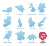 Okręgi administracyjni Zachodni Europa Zdjęcie Stock