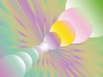 Okręgi różni rozmiary i rozbieżni promienie Zdjęcia Stock