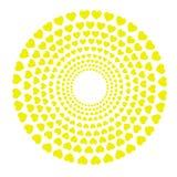 Okręgi z żółtymi sercami Fotografia Royalty Free