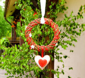 Okręgu ślub i valentines dnia dekoracja Zdjęcia Stock