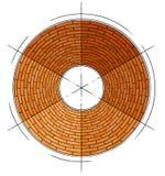 okręgu abstrakcjonistyczny architektoniczny ceglany symbol ilustracji