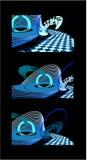 okręgu abstrakcjonistyczny błękitny obrazek Obrazy Stock