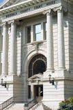 Okręgu administracyjnego gmach sądu w Missoula, Montana wejście Zdjęcie Stock