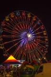 Okręgu administracyjnego jarmark przy nocą Obraz Royalty Free